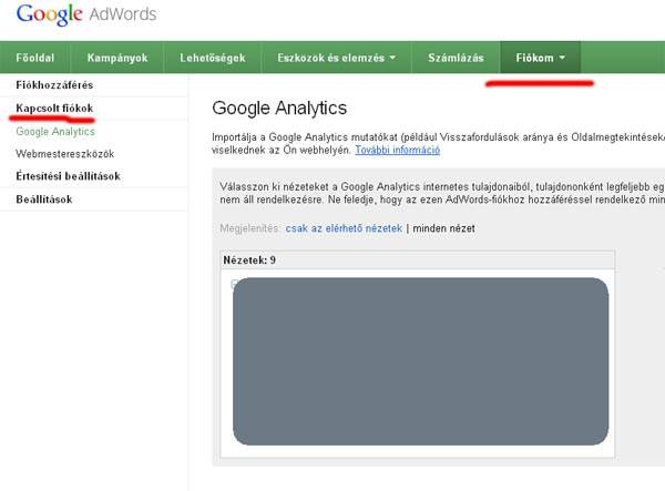 not provided Adwords