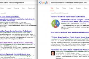 Google új találati lista