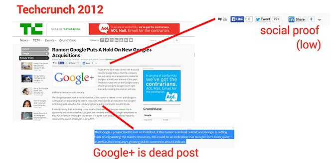 Google Plus a techcrounchon