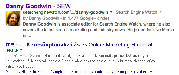 Gooogle Authorship vége