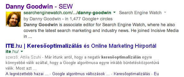 Gooogle Authorship vége
