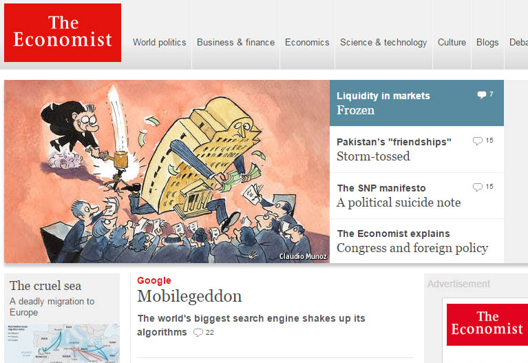 Mobil algoritmus az Economisten