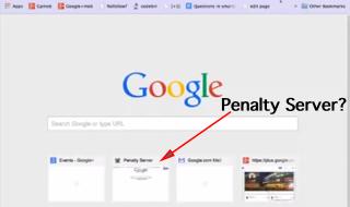 google büntetés szerver