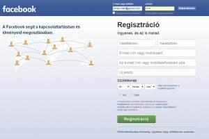 Facebook bejelentkezés vagy regisztráció