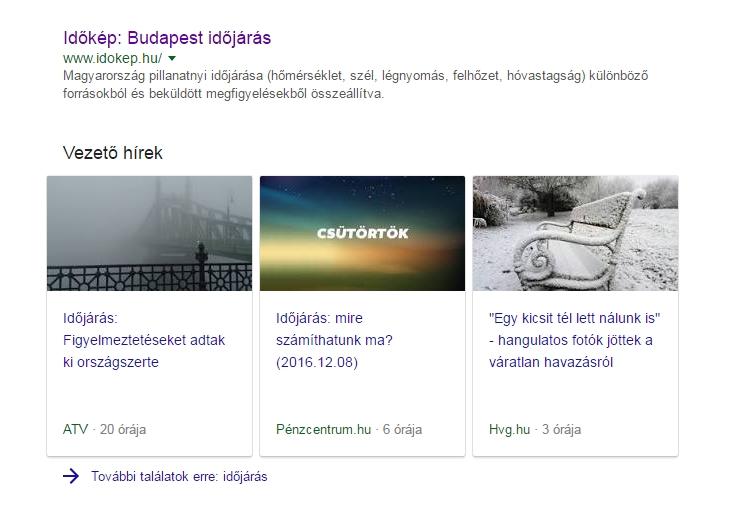 google vezető hírek